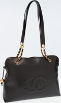 Luxury Accessories:Bags, Chanel Black Caviar Leather Tote Bag with Gold Hardware. ...