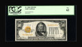 Small Size:Gold Certificates, Fr. 2404 $50 1928 Gold Certificate. PCGS New 62.. ...