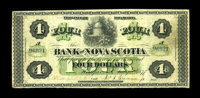 Halifax, NS- The Bank of Nova Scotia $4 July 2, 1877 Ch. 550-16-06