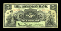 Canadian Currency: , Toronto, ONT- The Dominion Bank $5 Jan. 2, 1925 Ch. 220-16-14. ...