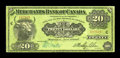 Canadian Currency: , Montreal, PQ- The Merchants Bank of Canada $20 June 1, 1907 Ch.460-16-06. ...