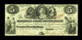 Canadian Currency: , Toronto, ONT- The Farmer's Joint Stock Banking Company $5 Feb. 1,1849 Ch. 280-12-06. ...