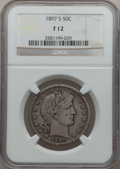 Barber Half Dollars: , 1897-S 50C Fine 12 NGC. NGC Census: (13/91). PCGS Population(27/181). Mintage: 933,900. Numismedia Wsl. Price for problem ...