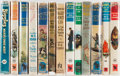 Books:Children's Books, Captain W. E. Johns. Assortment of Thirteen Biggles Titles. Variouspublishers. All in the original bindings and pictorial d...