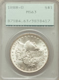 Morgan Dollars, (2)1883-O $1 MS63 PCGS; 1884-O $1 MS63 PCGS; 1885-O $1 MS63 PCGS;1887 $1 MS63 PCGS; 1888-O $1 MS63 PCGS.... (Total: 6 coins)