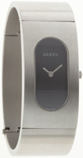 Luxury Accessories:Accessories, Gucci Stainless Steel 2400L Watch with Black Face. ...