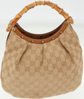 Luxury Accessories:Bags, Gucci Classic Monogram Canvas Double Bamboo Handle Bag. ...