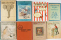 Books:Children's Books, [Children's Books]. Eight Oversized Antique Children's Books.Various publishers. All in original cloth. Good or better....