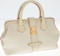 Luxury Accessories:Bags, Louis Vuitton White Suhali Leather L'Ingeniuex PM Shoulder Bag. ...