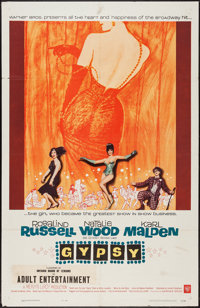 "Gypsy (Warner Brothers, 1962). One Sheet (27"" X 41""). Musical"