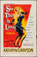 """Movie Posters:Musical, So This Is Love (Warner Brothers, 1953). One Sheet (27"""" X 41""""). Musical.. ..."""
