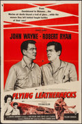 "Movie Posters:War, Flying Leathernecks (RKO, R-1956). One Sheet (27"" X 41""). War.. ..."