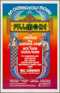 "Fillmore (20th Century Fox, 1972). One Sheet (27"" X 41""). Rock and Roll"