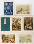 Books:Natural History Books & Prints, [Natural History Prints]. Seven Lithographed Color Plates of Sea Life. Extracted from volume one of Richard Lydekker's The...