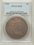 Early Dollars: , 1799 $1 7x6 Stars XF45 PCGS. PCGS Population (221/435). NGC Census:(271/458). Mintage: 423,515. Numismedia Wsl. Price for ...