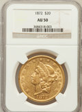 Liberty Double Eagles: , 1872 $20 AU50 NGC. NGC Census: (45/521). PCGS Population (48/304).Mintage: 251,880. Numismedia Wsl. Price for problem free...