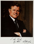"Autographs:Statesmen, Edward ""Ted"" Kennedy (United States Senator). Signed Photograph.1988. An 8 x 10-inch color photograph inscribed, ""To Dan Fr..."