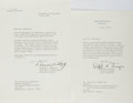 Autographs:U.S. Presidents, [Dwight D. Eisenhower and Lyndon Baines Johnson, AmericanPresidents]. Robert Schulz, executive assistant to Eisenhower andRa...