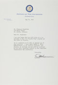 Autographs:Statesmen, Otto Kerner (Governor of Illinois). Typed Letter Signed, one page, May 19, 1965, governor's office stationery, to Mr. Claren...