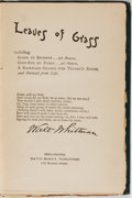Books:Literature Pre-1900, Walt Whitman. Leaves of Grass. David McKay, [n. d., circa1892]. Publisher's cloth gilt. Noticeable wear to the ...