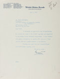 Autographs:Statesmen, Estes Kefauver, American Politician. Typed Letter Signed. Very good....