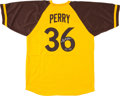 Baseball Collectibles:Uniforms, Collection of Four Gaylord Perry Signed Jerseys. ...