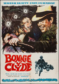 "Movie Posters:Crime, Bonnie and Clyde (Mundial Films, 1968). Spanish One Sheet (27"" X39""). Crime.. ..."