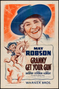"Movie Posters:Crime, Granny Get Your Gun (Warner Brothers, 1940). One Sheet (27"" X 41""). Crime.. ..."