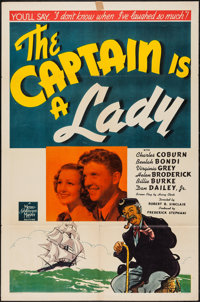 """The Captain is a Lady (MGM, 1940). One Sheet (27"""" X 41""""). Comedy"""