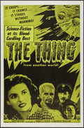 "Movie Posters:Science Fiction, The Thing from Another World (RKO, R-1957). One Sheet (27"" X 41"").Science Fiction.. ..."