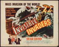 """Invisible Invaders (United Artists, 1959). Half Sheet (22"""" X 28""""). Science Fiction"""