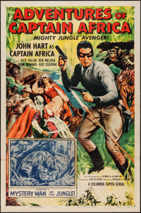 """Adventures of Captain Africa (Columbia, 1955). One Sheet (27"""" X 41"""") Chapter 1 -- """"Mystery Man of the Jun..."""
