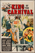 """Movie Posters:Serial, King of the Carnival (Republic, 1955). One Sheet (27"""" X 41""""). Serial.. ..."""