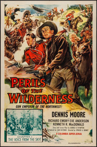 """Perils of the Wilderness (Columbia, 1955). One Sheet (27"""" X 41"""") Chapter 1 --- """"The Voice from the Sky!&q..."""