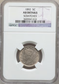 Liberty Nickels: , 1892 5C -- Scratches -- NGC Details. AU. NGC Census: (3/381). PCGSPopulation (2/563). Mintage: 11,699,642. Numismedia Wsl....