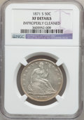 Seated Half Dollars: , 1871-S 50C -- Improperly Cleaned -- NGC Details. XF. NGC Census:(0/86). PCGS Population (1/123). Mintage: 2,178,000. Numis...