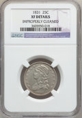 Bust Quarters: , 1831 25C Small Letters -- Improperly Cleaned -- NGC Details. XF.NGC Census: (23/427). PCGS Population (35/370). Mintage: 3...