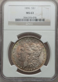 Morgan Dollars: , 1896 $1 MS63 NGC. NGC Census: (11678/20200). PCGS Population(11764/16675). Mintage: 9,976,762. Numismedia Wsl. Price for p...