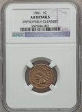 Indian Cents: , 1861 1C -- Improperly Cleaned -- NGC Details. AU. NGC Census:(26/1616). PCGS Population (39/1154). Mintage: 10,100,000. Nu...