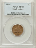 Flying Eagle Cents: , 1858 1C Small Letters XF40 PCGS. PCGS Population (93/867). NGCCensus: (0/3). Numismedia Wsl. Price for problem free NGC/P...