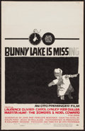 "Movie Posters:Mystery, Bunny Lake is Missing (Columbia, 1965). Window Card (14"" X 22"").Mystery.. ..."