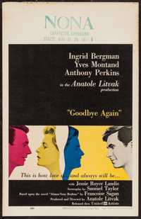 "Goodbye Again (United Artists, 1961). Window Card (14"" X 22""). Romance"