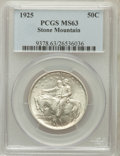 Commemorative Silver: , 1925 50C Stone Mountain MS63 PCGS. PCGS Population (2099/6880). NGCCensus: (932/5876). Mintage: 1,314,709. Numismedia Wsl....
