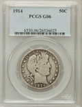 Barber Half Dollars: , 1914 50C Good 6 PCGS. PCGS Population (181/725). NGC Census:(65/239). Mintage: 124,300. Numismedia Wsl. Price for problem ...