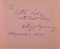 Autographs:Artists, Willy Pogany, Hungarian-American Illustrator. Autograph NoteSigned. Very good....
