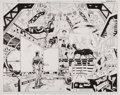 Original Comic Art:Splash Pages, Keith Giffen, Joe Bennett, and Ruy Jose 52 Page 18 and 19Original Art (DC, 2006)....