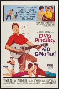 "Kid Galahad (United Artists, 1962). One Sheet (27"" X 41""). Elvis Presley"