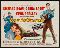 "Love Me Tender (20th Century Fox, 1956). Half Sheet (22"" X 28""). Elvis Presley"