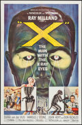 """Movie Posters:Science Fiction, X - The Man with the X-Ray Eyes (American International, 1963). One Sheet (27"""" X 41""""). Science Fiction.. ..."""