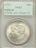 Morgan Dollars: , 1921 $1 MS63 PCGS. PCGS Population (27347/27375). NGC Census:(32067/43664). Mintage: 44,690,000. Numismedia Wsl. Price for...